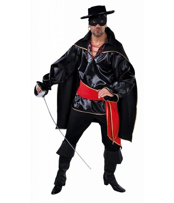 Zwarte Bandiet kostuum man