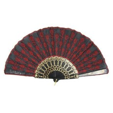 Waaier Embroidery rood