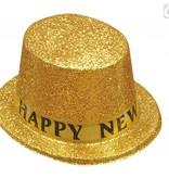 Hoge hoed goud Happy new year
