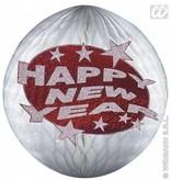 Happy new year papierdecoratie rood