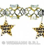 Happy new year laser slinger goud