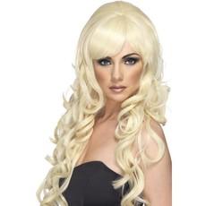 Popster pruik blond