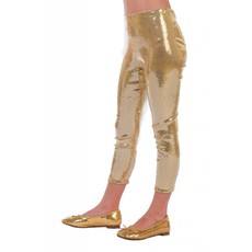 Legging pailletten goud kind