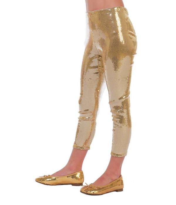 Legging pailletten goud kind