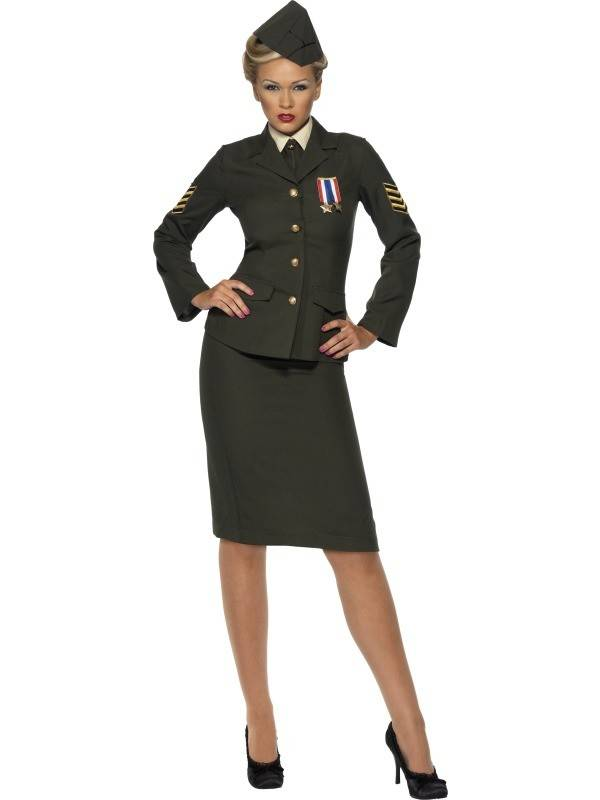 Wartime officier kostuum vrouw