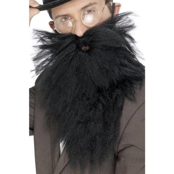Baard met snor lang zwart