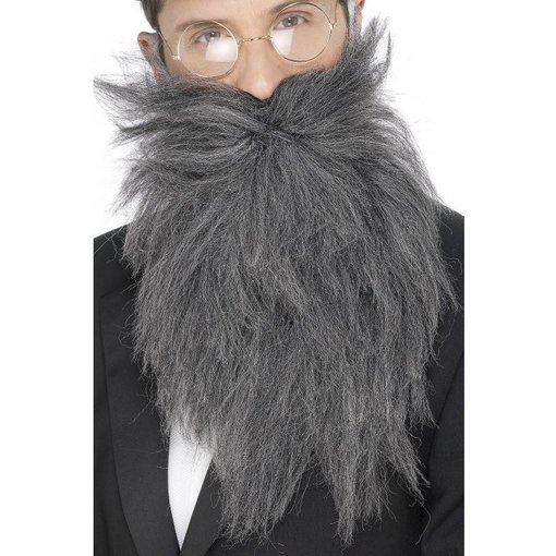 Baard met snor lang grijs