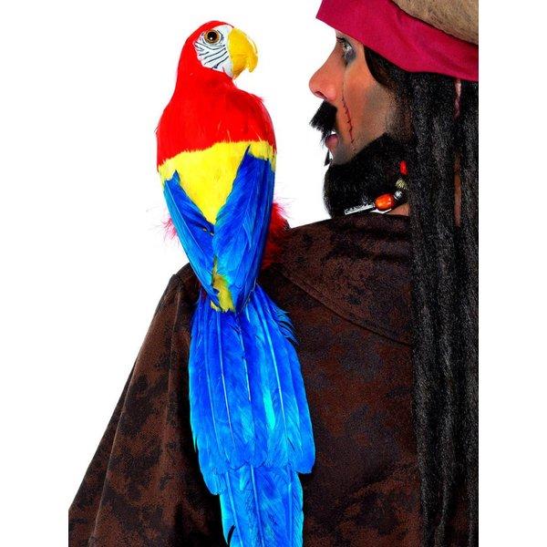Papagaai met elastiekhouder