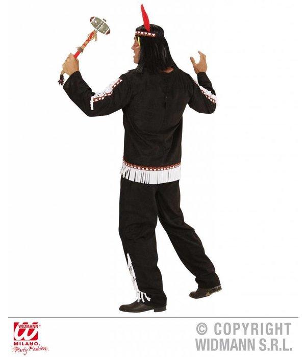 Indianen kostuum man zwart