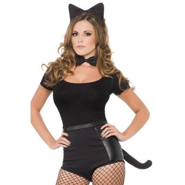 Kattenset zwart