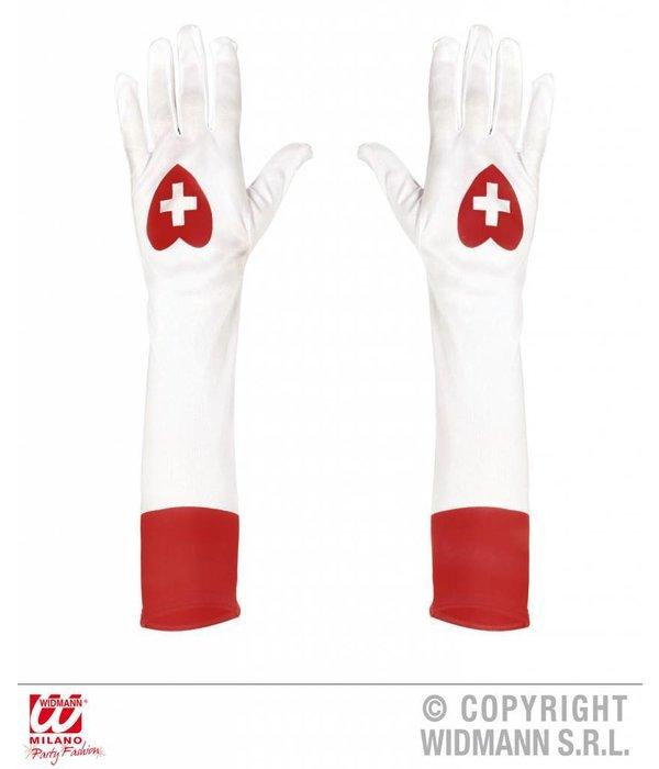 Lange handschoenen verpleegster