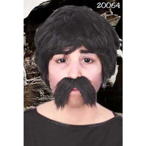 Snor Dorus zwart