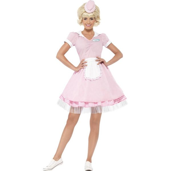 Jaren 50 Diner girl kostuum