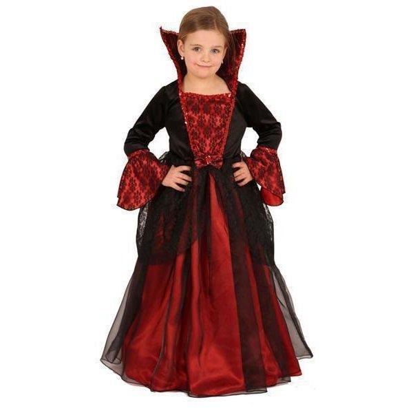 Klassieke prinsessenkostuum rood/zwart