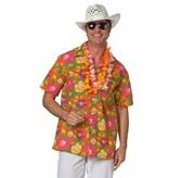 Hawaii blouse heer oranje