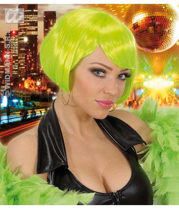 Pruik Valentina neon groen