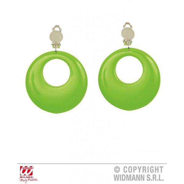 Oorringen neon groen