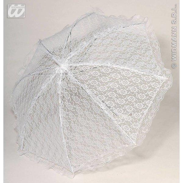 Kanten Paraplu wit