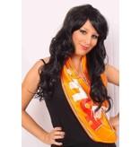 Sjawl satijn oranje Holland