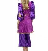 Oosterse verkleedkleding paars elite