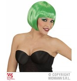 Groene boblijn pruik dames