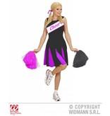Cheerleader jurkje zwart/roze