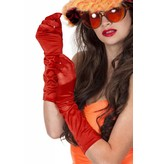 Gala handschoenen satijn rood 40 cm