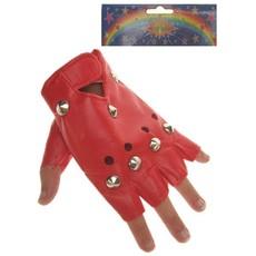 Punk handschoenen rood