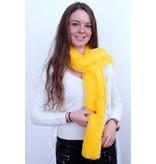 Knuffelsjawl fluor geel 165 cm