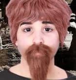 Snor + baard bruin