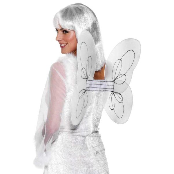 Engelen vleugels wit met zilver