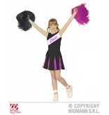 Cheerleader kind zwart/paars