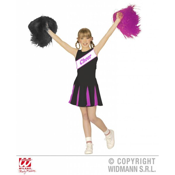 Cheerleader kind zwart/paars