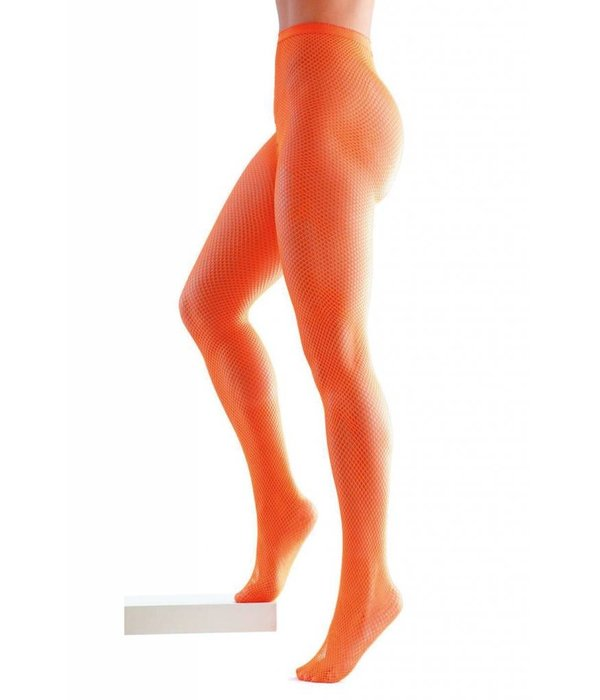 Netpanty mazen neon oranje