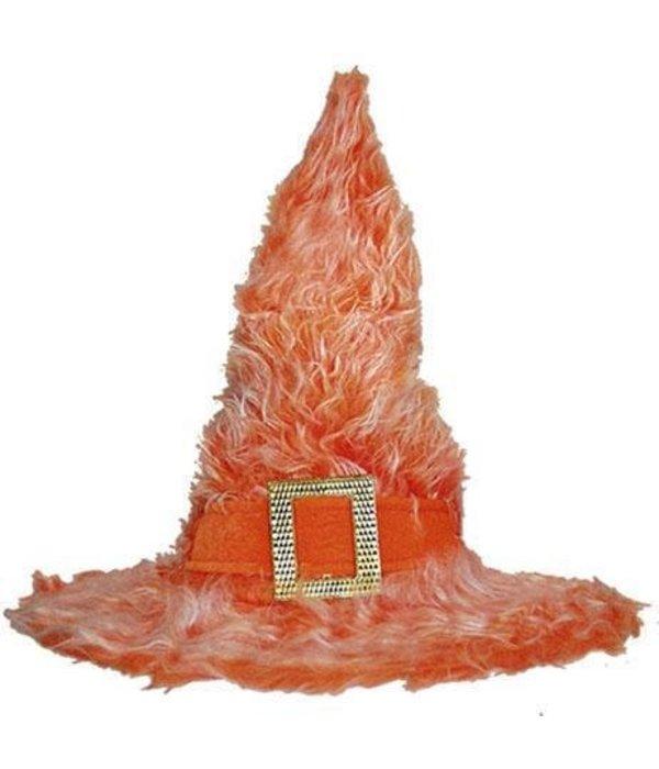 Heksenhoed pluche oranje