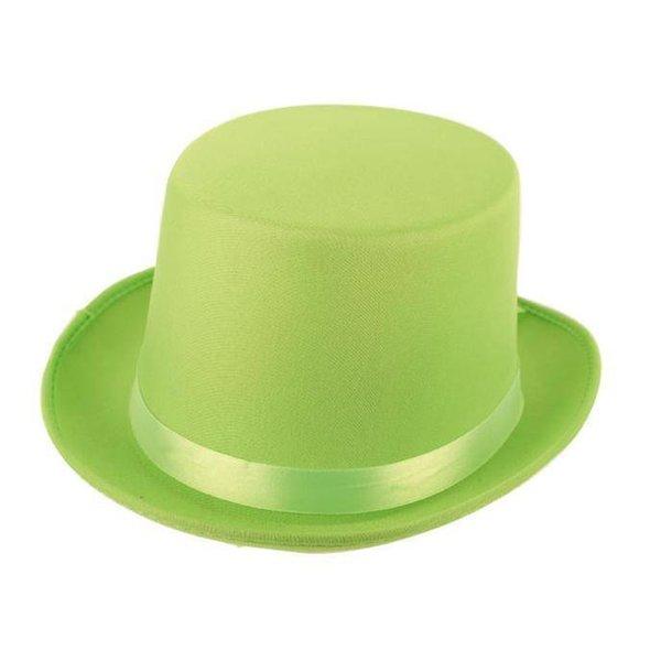 Hoge hoed satijn groen