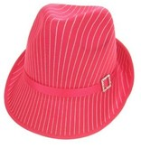 Gangsterhoed streep glans pink