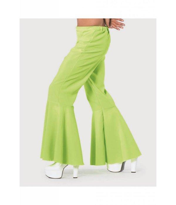 Hippie broek bi-stretch man neon groen