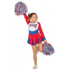 Cheerleader jurkje kind rood-wit-blauw