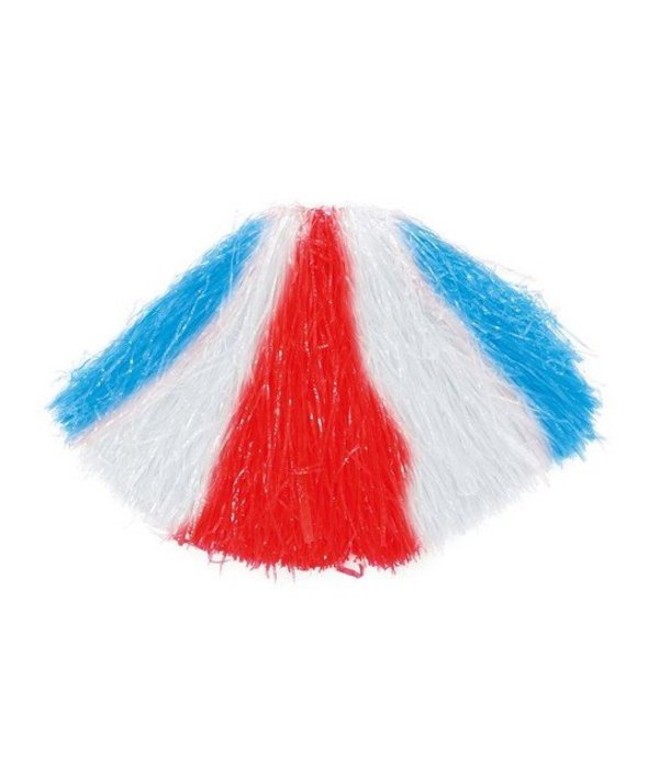 Cheerleader pompom rood-wit-blauw