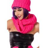 Sjaal rond neon pink