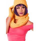 Sjaal rond neon oranje