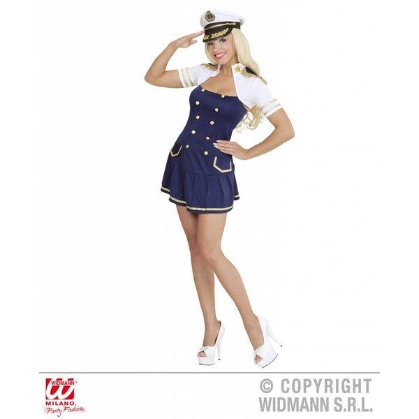 Sexy Kapitein kostuum marine