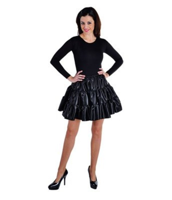 Volangen rok kort zwart