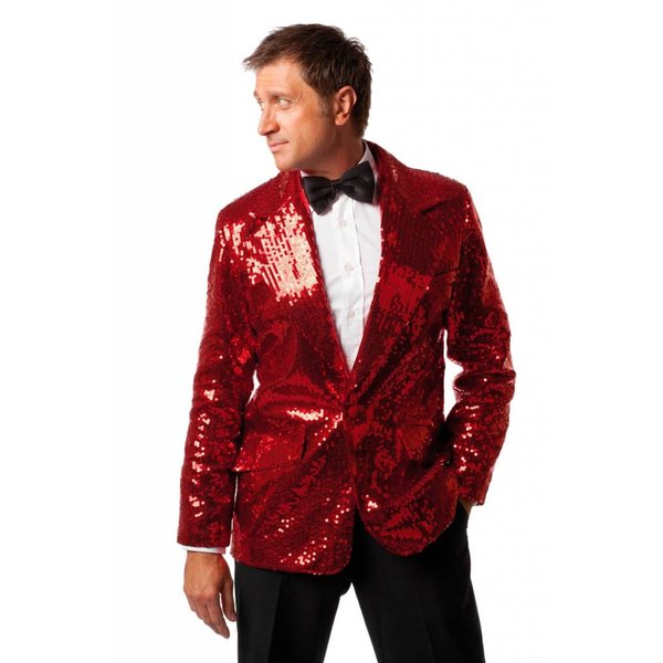 Clobert pailletten luxe heren rood
