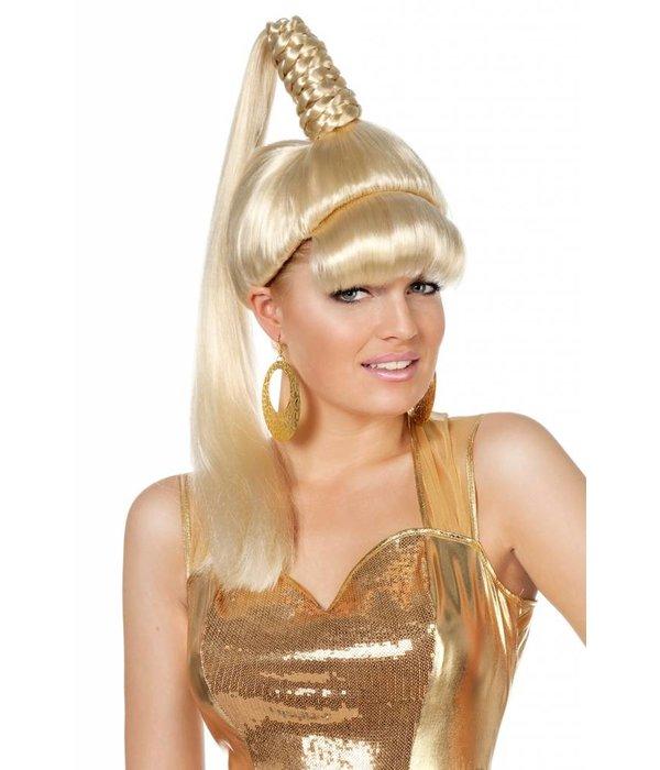 Pruik Gini blond