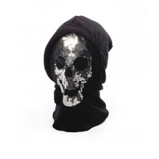 Masker met pailletten doodskop