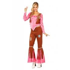Hippy flower kostuum pink