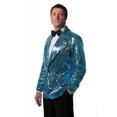 Colbert pailletten turquoise gevoerd elite