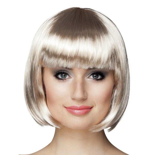 Pruik bobline platinum blond
